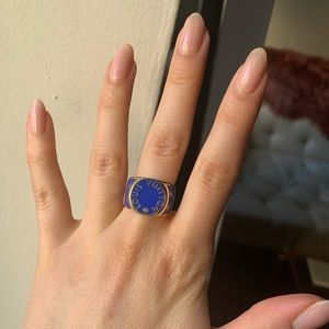 LOUIS VUITTON 24k Plated Gold Ring